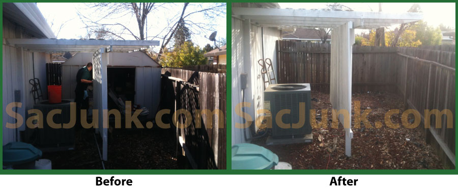 shed before after